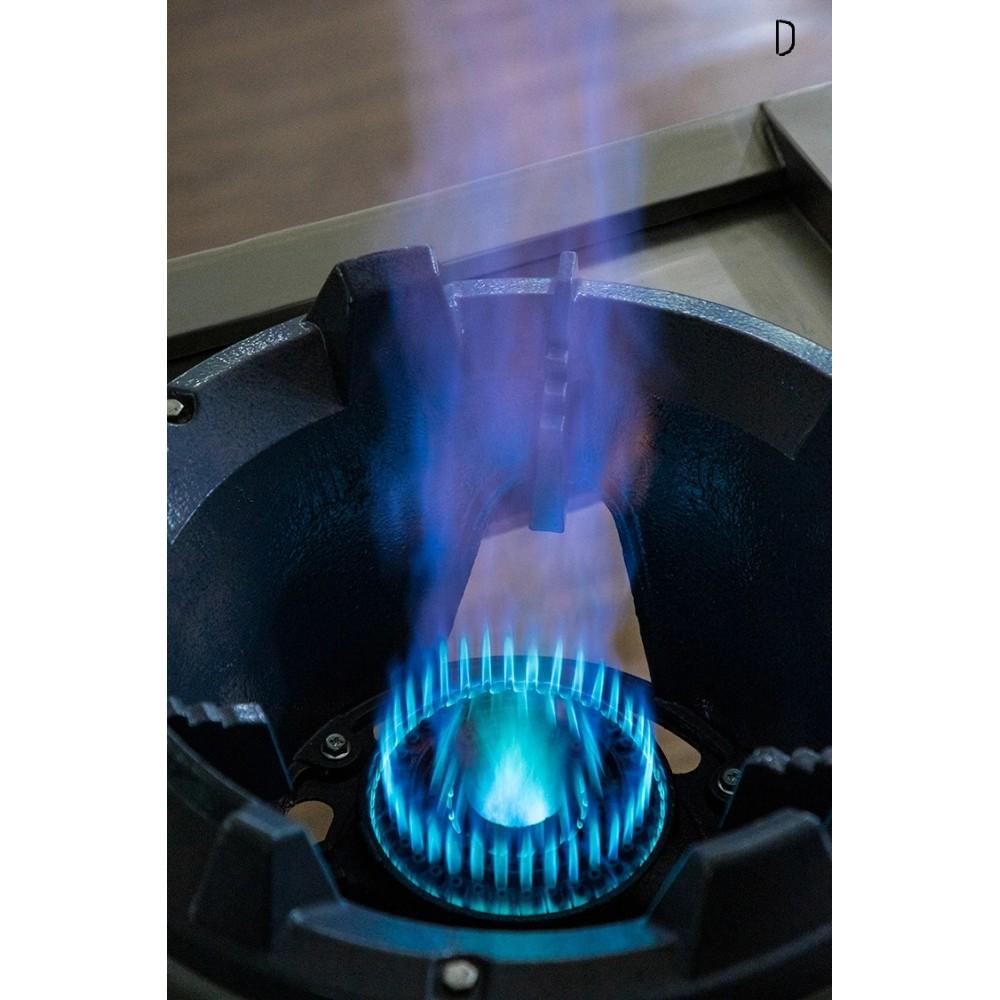 Газовая плита-горелка для ВОК , КАЗАН. 30 кВт, корпус из нержавейки.