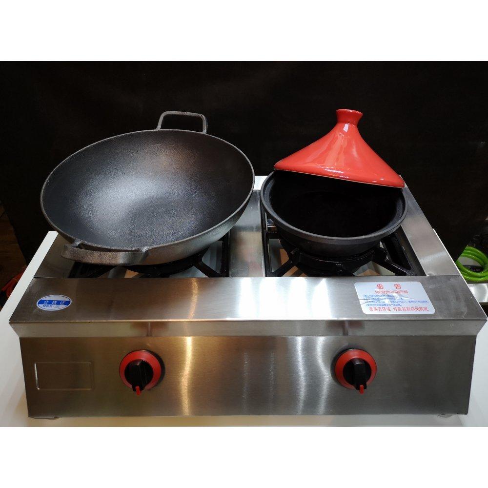 Профессиональная настольная газовая плита 2х конфорочная.