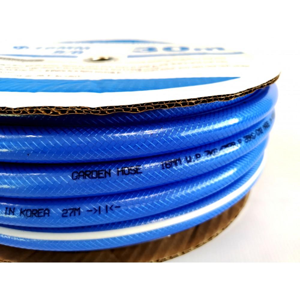 Шланг поливочный ПВХ,  голубой. Серия В-03, ф- 16 мм. 30 м.