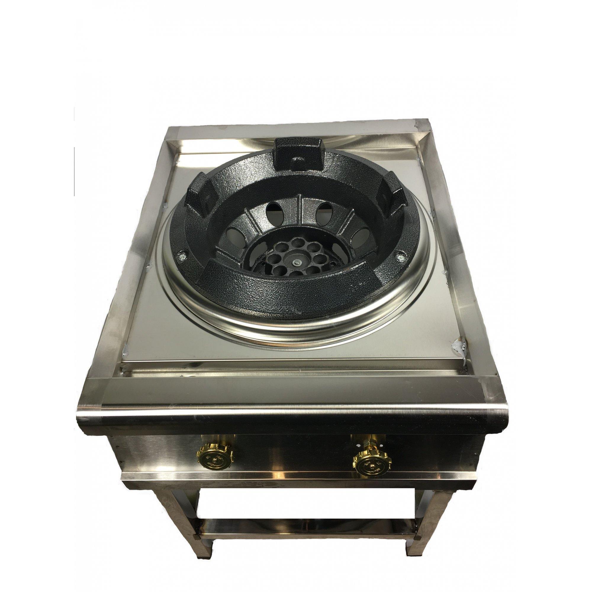 Газовая ВОК плита-горелка 30 кВт, 1 контур, нержавейка.