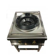 Газовая ВОК плита-горелка 30 кВт, нержавейка.