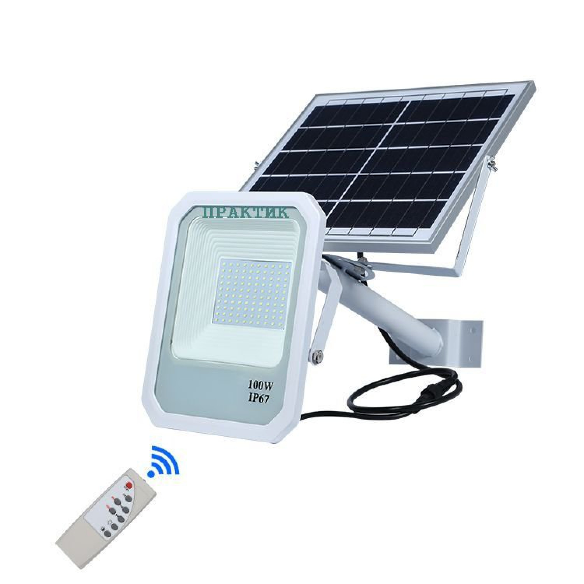 Прожектор на солнечной батареи.